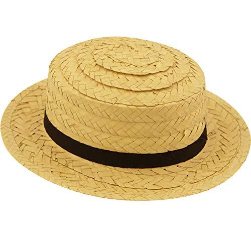 German Trendseller® Stroh Hut - Deluxe -┃ mit Band ┃ Sonnenhut - Urlaub ┃ Beach ┃ Strand ┃ Sonnenhut aus Stroh