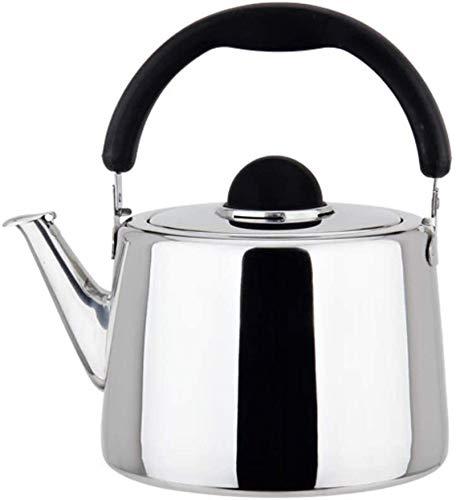 Hervidor simple Hervidor con silbato Hervidor de té de acero inoxidable para estufa Hervidor de agua de moda plateado rápido Múltiples capacidades para elegir entre hervidor de moda