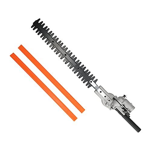 Cabezal cortasetos, acero al manganeso, diseño de doble hoja, 26 mm, 9 dientes, orificio redondo, cabezal cortador de setos para podar setos