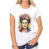 Camiseta con Estampado de Avatar de Pintura al óleo para Mujer, Camiseta Divertida de Manga Corta con Cuello en V y Blusa Transpirable de Verano