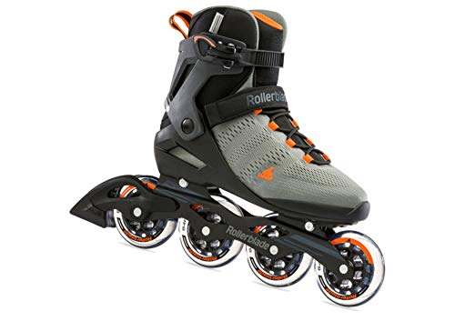 Rollerblade Herren Sirio 90 Inline-Skate, Antracite/Arancio, 45 EU