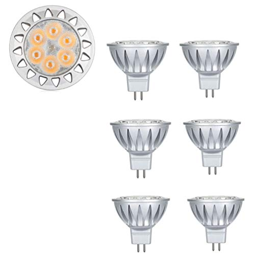 GU5.3 LED Warmweiß 2700 Kelvin, MR16 LED 12V 7W LED Leuchtmittel Kann perfekten Ersatz für 50W Halogenlampe, 500 Lumen LED Lampe, 38° Abstrahlwinkel LED Birnen. 6er-Pack