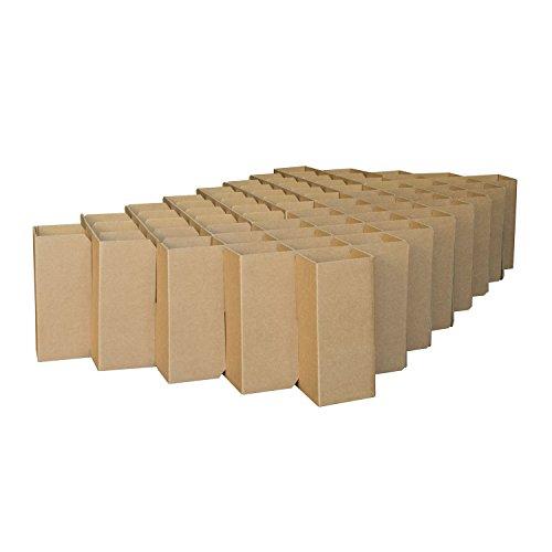 ROOM IN A BOX Bett 2.0 S/Braun: Klappbett aus Wellpappe 80 90 100 x 200 cm und Zwischengrößen. Auch als Gästebett. Lattenrost Nicht nötig.
