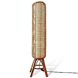 CYLYFFSFC Asie du sud-est lampadaire tissé en bambou de style japonais jardin de style chinois salon zen salle d'étude…
