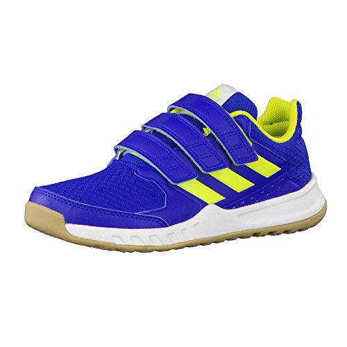 adidas Unisex-Kinder FortaGym Gymnastikschuhe, Blau (Collegiate Royal/semi Solar Yellow/FTWR White), 28 EU