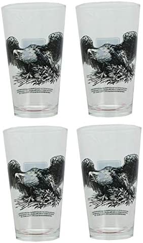 U S Army Eagle Crest Badge 16oz Pint Glass Set of 4 product image