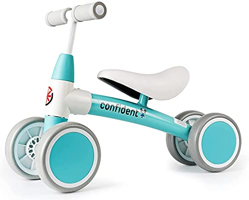 XIAPIA Bicicleta sin Pedales para Niños, Bicicleta Bebe 1 Año Bicicleta Equilibrio 1 Año Bicicleta Infantil sin Pedales de Forma Animal Lindo de Regalo Favorito del Niño (Azul Nuevo)