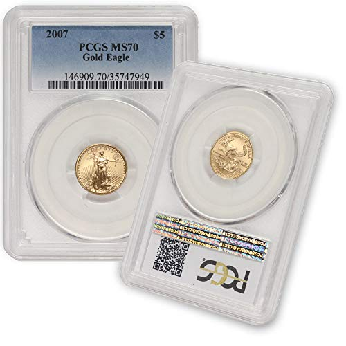 2007 1/10 oz Gold American Eagle MS-70 by CoinFolio $5 MS70 PCGS