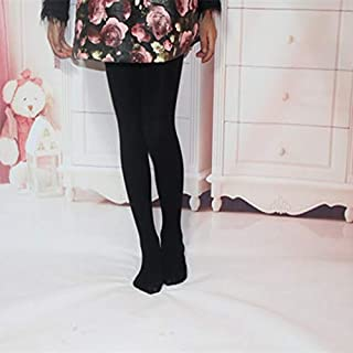 Socks Spring Summer Autumn Solid Color Pantyhose Ballet Dance Tights for Kids(White) Outdoor & Sports (Color : Black)