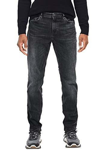 s.Oliver Herren 13.909.71.5803 Straight Jeans, Grau (Grey/Black Denim Stretch 95z4), 32W/L30