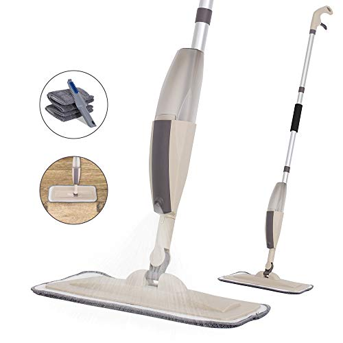 Hard Floor Mop Spray Mop for Home Kitchen Wood Tile Laminate Ceramic Floor Cleaning Tool with 250ml...