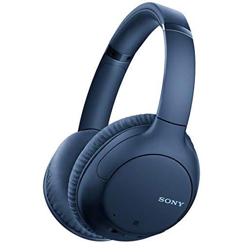 ソニー ワイヤレスノイズキャンセリングヘッドホン WH-CH710N : Bluetooth対応 最大35時間連続再生 マイク付き 2020年モデル ブルー WH-CH710N L