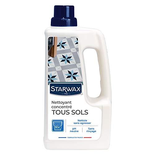 STARWAX Nettoyant Doux pour Sols Intérieurs - 1L - Idéal pour Nettoyer Tous les Sols