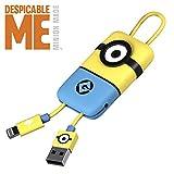 Cavo USB Lightning Minion (22 cm) - Trasmissione Dati e Ricarica per Apple - Originale Minions, Tribe CLR32100