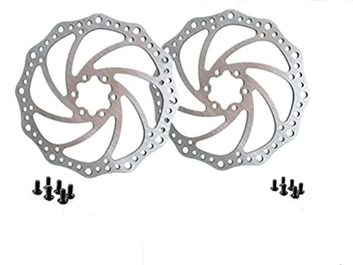 Hitopin 2 Foglio Disco Freno per Bicicletta, Disco Freno in Acciaio Inox 160 mm, Parti del Freno per Bicicletta Con 12 Viti, Utilizzato per Mountain Bike, Auto da Corsa e Altre Biciclette