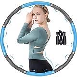 DUTISON Hula Hoop, Hula Hoop, pneumatici fitness per adulti, 6-8 segmenti rimovibili e regolabili, Hoola Hoop per riduzione di peso/fitness/sport