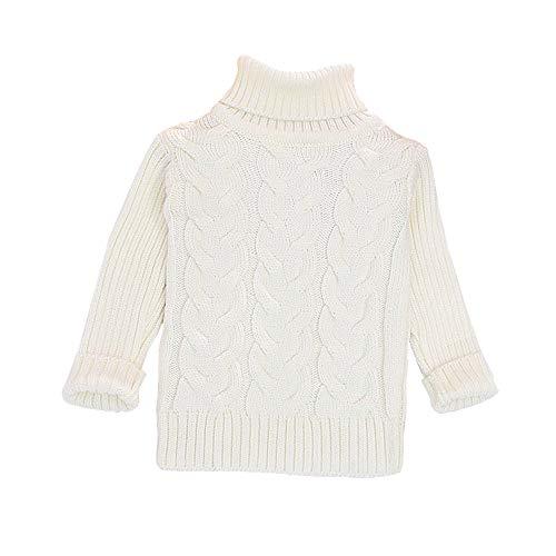 BOZEVON Prendas de Punto de bebé Suéter para niños y niñas - Suéteres para niños Otoño/Invierno Cálido Jersey de Cuello Alto Sudadera Ropa Jerseys de Navidad
