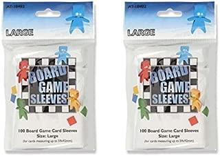 Arcane Tinmen Large Board Game Card Sleeves – 59mm x 92mm – Bundle of 2 – 200 Sleeves Total