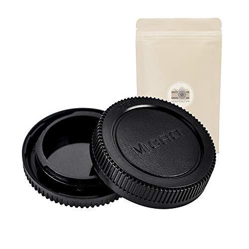 M4 3 BO Bouchon ARRIÈRE pour Objectif + Cache BOITIER Monture Micro 4 3 4 3 Compatible Tous appareils Photo à Montures Micro 4:3