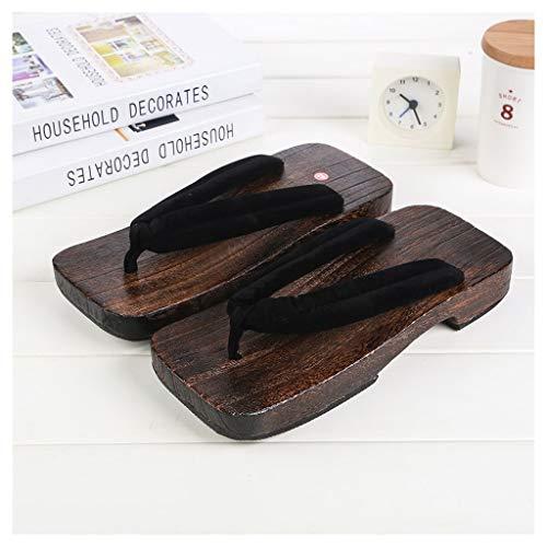 OFFA Pantuflas Pantuflas Zapatillas para Hombre Sandalias Tradicionales Japonesas Zapatos De Madera, Zapatillas para Hombres para Hombre Al Aire Libre Al Aire Libre, Chanclas De Punta Abierta
