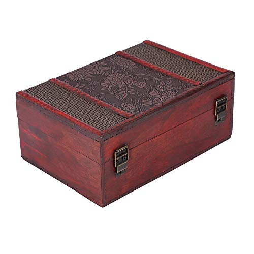 Handcrafted Wooden Jewelry, Home AccessoriesJewelry Boxes & OrganizersBox with Small Lock, Keepsake Gifts Storage Box Organizer with Intricately Hand Carved