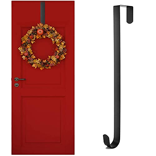 Kederwa 12inch 'Wreath Door Hanger, Metal Wreath Hangers Over The Door Wreath Hook Holder for Christmas Wreath Decorations