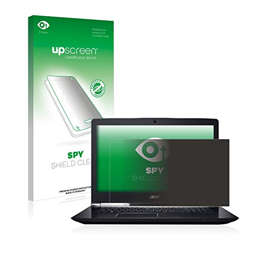 upscreen Anti-Spy Blickschutzfolie kompatibel mit Acer Aspire V 17 Nitro Privacy Screen Sichtschutz Bildschirmschutz-Folie