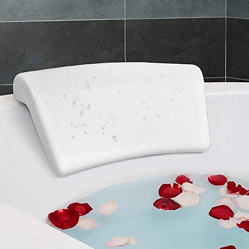 Yajun Almohada de Baño Antideslizante Cojín de Bañera Suave e Impermeable Soportes para el Hogar la Cabeza el Cuello y Los Hombros Se Adapta a Cualquier Tamaño de Bañera 1 Uds