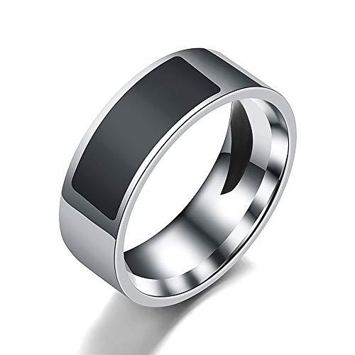 Tabanlly Fingerring für Android Windows NFC Smart-Ring, wasserdicht, mehrere Größen, Schwarz , 10
