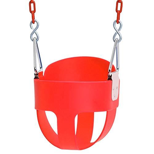 Columpio Colgante De EVA para Niños, Columpio De Cesta Colgante, Columpio Resistente con Metal De Acero Inoxidable para Patio, Parque, Hogar, De 1 A 8 Años,Rojo