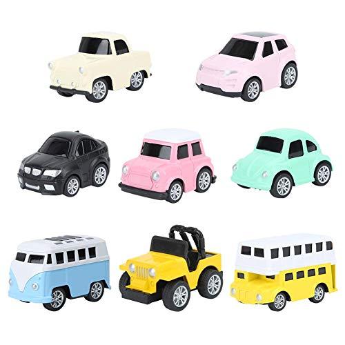 8 Teile Macaron Automodell Set Version Rennwagen Fahrzeuge Legierung Zurückziehen Automodell Spielzeug Wohnkultur und Urlaub Geschenk für Kinder