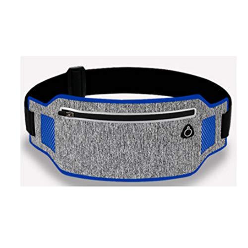 LIUZKH Cinturón de cintura profesional para correr Cinturón de deporte Teléfono móvil Hombres Mujeres con bolsa oculta Bolsas de gimnasio Running Belt Waist Pack (azul)