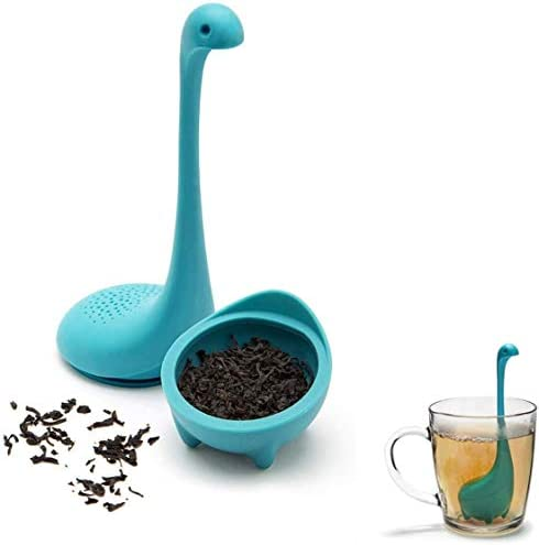 Liberty Silicone Tea Strainer Loch Ness Monster Tea Maker Food Grade Silicone Tea Drainer Blue product image