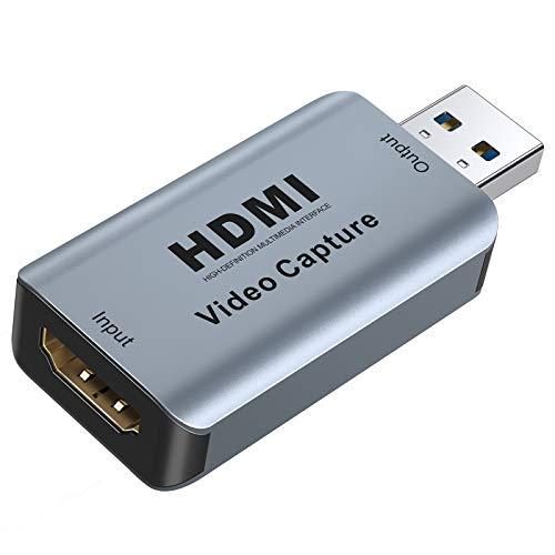 Scheda Acquisizione Video HDMI,ABLEWE Game Capture Audio Video HDMI a USB 2.0,1080p 30fps per Videogiochi,Streaming,Trasmissione in Diretta e Registrazione,per DSLR Phone Dvd TV PC Windows Mac Android