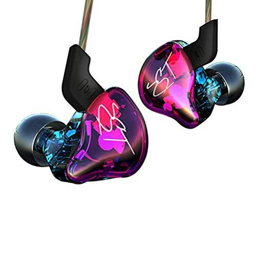 KZ ZST Dynamic Hybrid Dual Driver in Ear Earphones (Purple Without Mic)