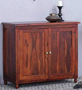 Shilpi Hand Carved Standard Size Multipurpose Storage Sheesham Wood Cabinet