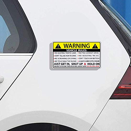 13 cm x 7,3 cm Fahrzeugsicherheit Warnregeln Aufkleber Aufkleber Fenster Grafik Stoßstange JDM Auto Aufkleber