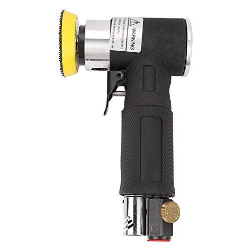 DollaTek Mini Amoladora angular de aire Pulidora neumática de 90° + almohadilla de lijado de 2 pulgadas y 3 pulgadas Lijadora orbital Amoladora/pulidora de ángulo de aire comprimido