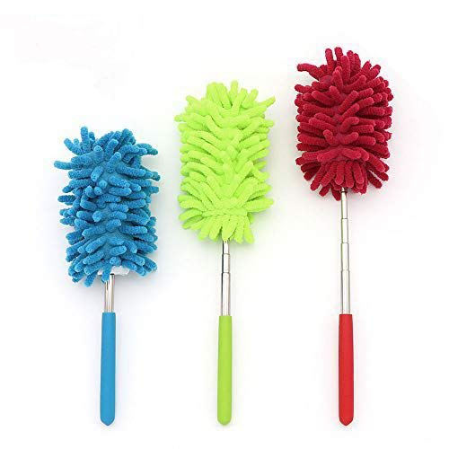 3 Pack Microfiber Duster, MCOMCE Microfiber Hand Duster Washable Microfibre Cleaning Tool Extendable Dusters for Cleaning Office, Car, Computer, Air Condition, Washable Duster