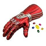 Guante de los Vengadores con Luces led, Guantele Thanos Final del Juego Iron Man Infinity Gauntlet Magnética Gemas Desmontable Disfraz de Cosplay Halloween Prop Adulto/Niño Adult