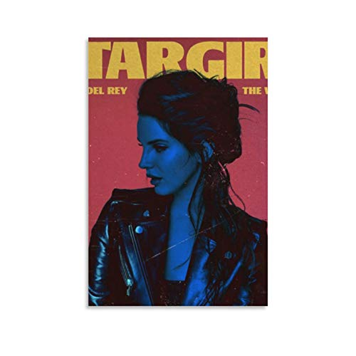 Lana Del Rey 90er Jahre Vintage Poster für Zimmer Ästhetik 4 Leinwand Poster Wandkunst Dekor Druck Bild Gemälde für Wohnzimmer Schlafzimmer Dekoration 45 × 30 cm Unframe style1