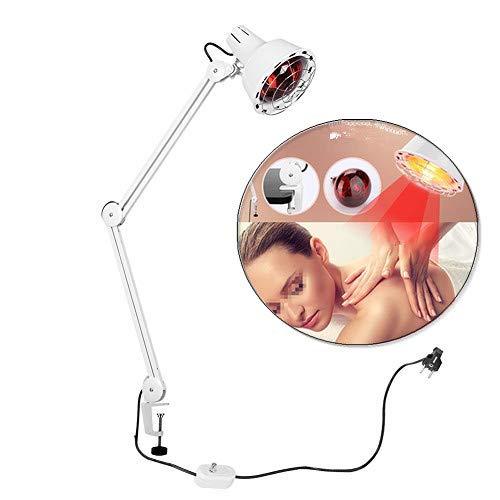 Infrarotlampe, 220V Infrarottherapie wärmelampe Infrarot Massage Lampe Zur Linderung von Körperschmerzen und Schönheit, Weiß (#1: Clip-Typ)