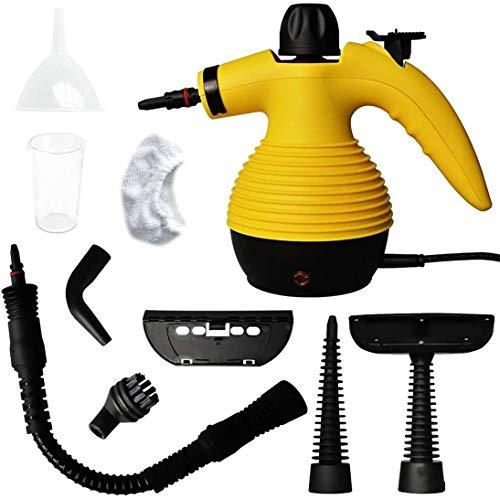 Dp-Light Portátil a presión de Vapor Limpiador Multiuso con 9 Piezas de extracción Accesorio Kit for Las Manchas, Suelo de Vapor, alfombras, Cortinas,...