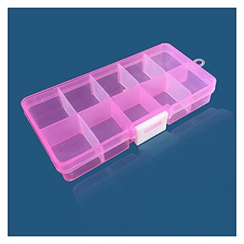 Organizzatori di utensili Cassetta portautensili portatile colorata rimovibile 10 slot contenitore di stoccaggio contenitore anello di gioielli ad anello elettronico perline perline organizzatore cust