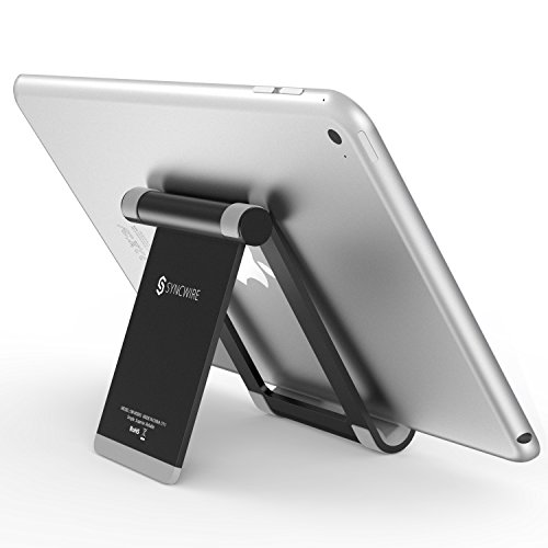 Syncwire Tablet Halterung Pad Ständer - Verstellbarer Handy Tisch Stand Halter Staender kompatibel mit iPad Pro 12.9'' 10.5'' 9.7'', Air Mini, Apple iPhone, Samsung Galaxy Tab Phone und Mehr