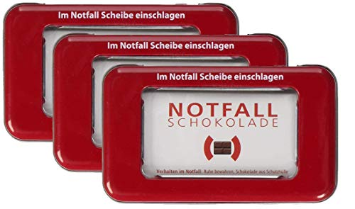 Notfallschokolade in der Dose |3er Pack (3 x 30g) von Liebeskummerpillen