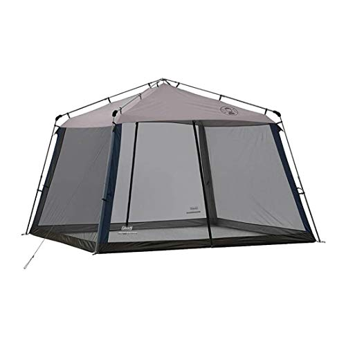 Coleman 11 x 11 Foot UV Guard Outdoor Camping Instant Screened Mesh Net Wall Canopy Tent Screen Shelter, Gray