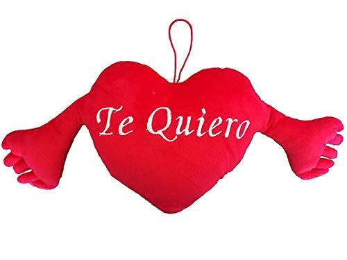 Peluche Te Quiero Cojín Almohada San Valentín Enamorados Parejas Regalos Originales (con Brazos (TE Quiero))