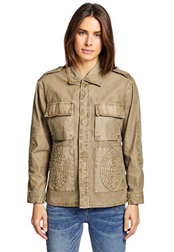 khujo Damen Jacke UMAYAMA in Naturtönen Sommerjacke mit leicht verwaschener Optik im Military-Look