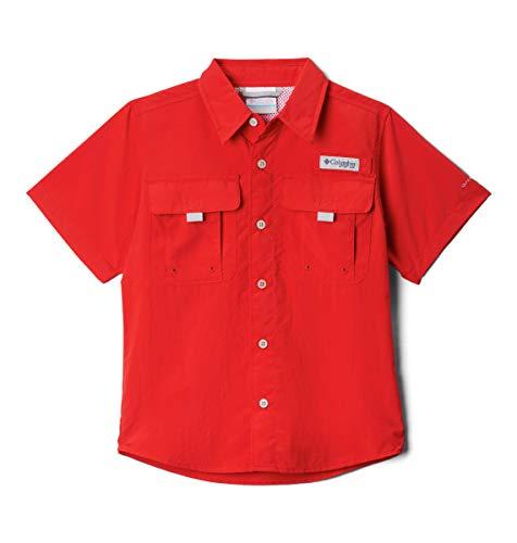 Columbia Boys Bahama Short Sleeve Shirt, Red Spark, Large